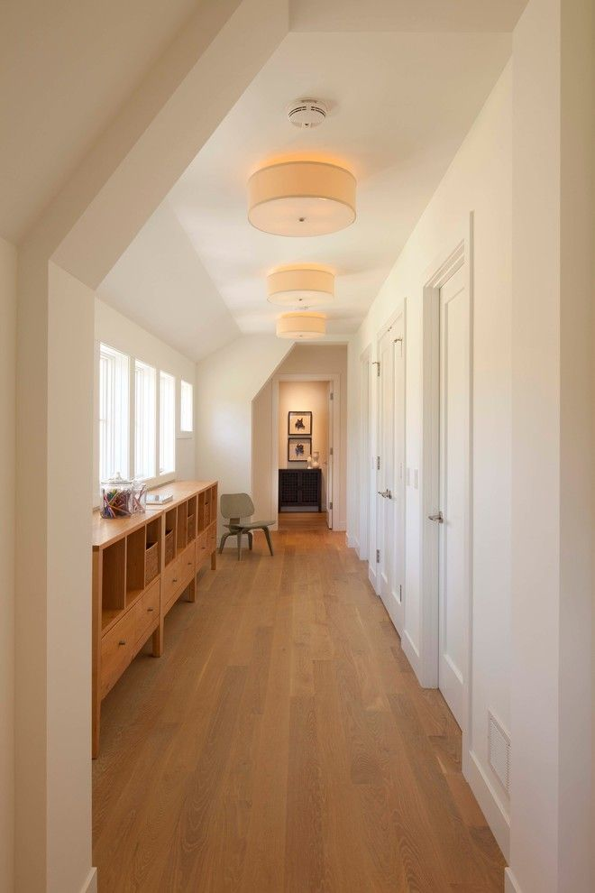 Anderson Plywood for a Contemporary Hall with a White Walls and Edina 4 by Elevation