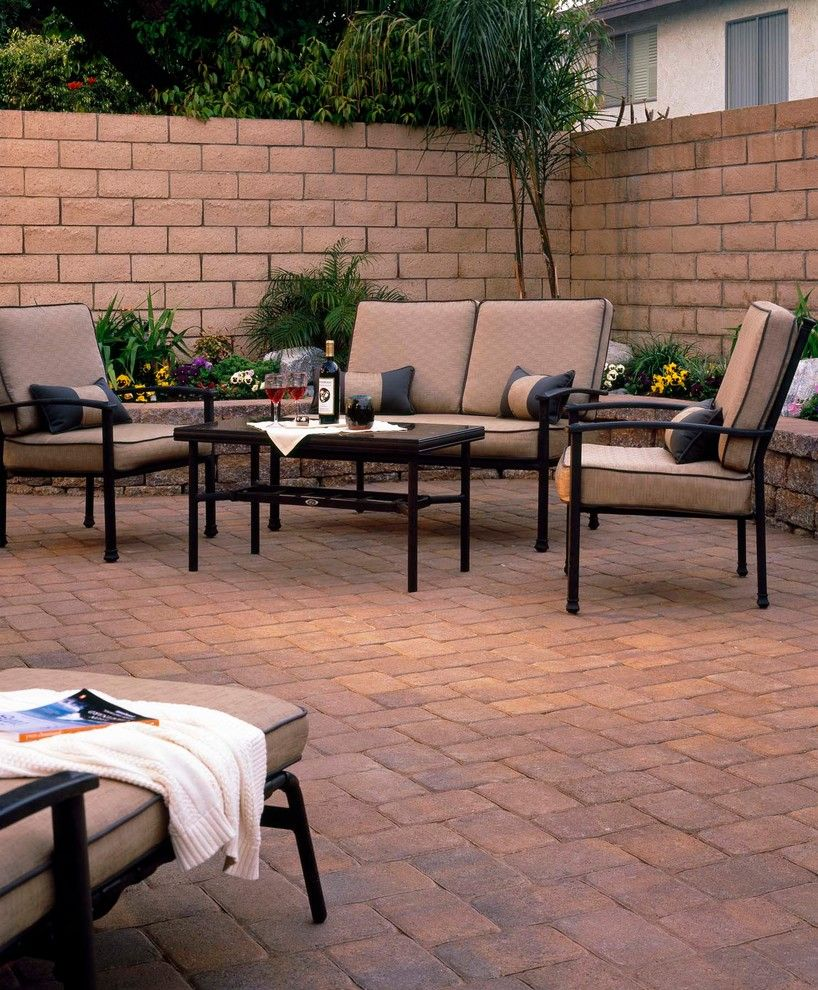 Angelus Pavers for a Modern Landscape with a Ackerstone Pavers and Pavers by Pacific Pavers