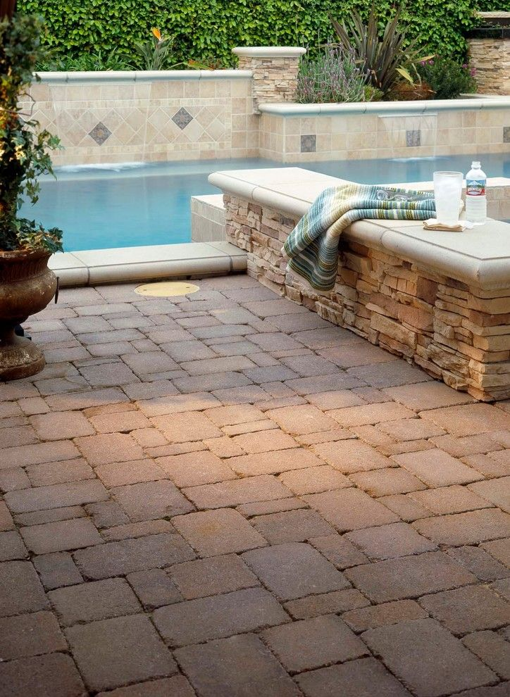 Angelus Pavers for a Modern Spaces with a Patio Pavers and Pavers by Pacific Pavers