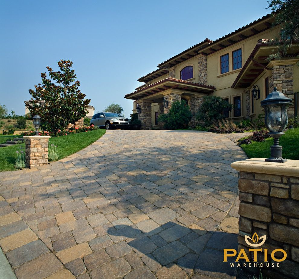 Angelus Pavers for a Rustic Patio with a Interlocking Paver Stones and Belgard Pavers by Patio Warehouse Inc.