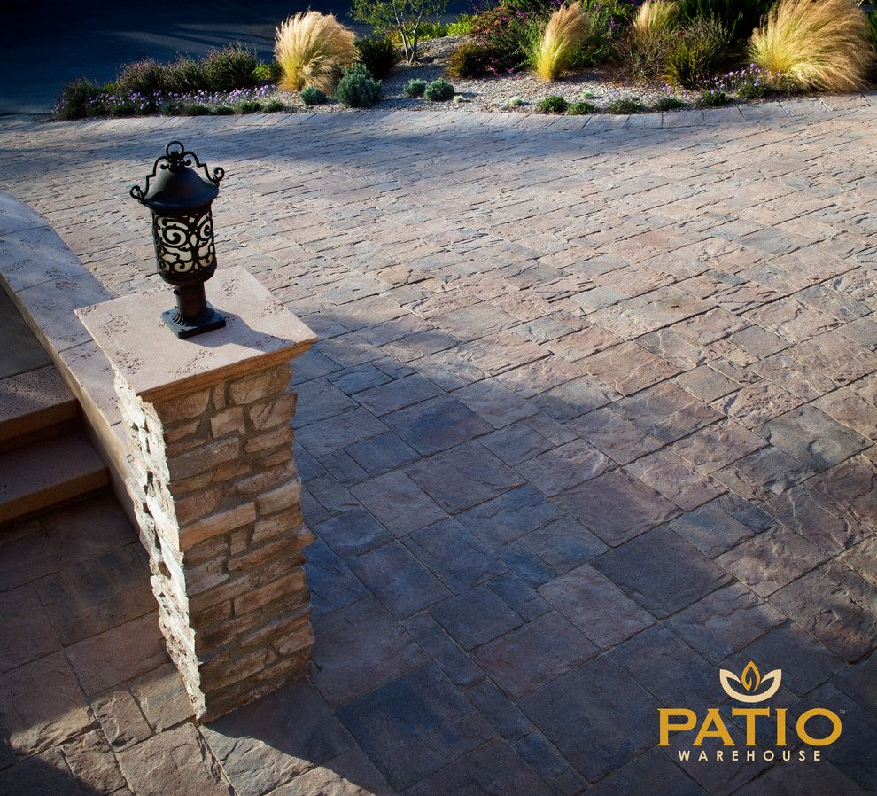 Angelus Pavers for a Rustic Patio with a Orco Pavers and Belgard Pavers by Patio Warehouse Inc.