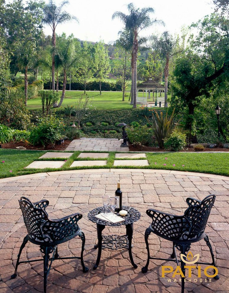 Angelus Pavers for a Rustic Patio with a Outdoor Patio Areas and Belgard Pavers by Patio Warehouse Inc.