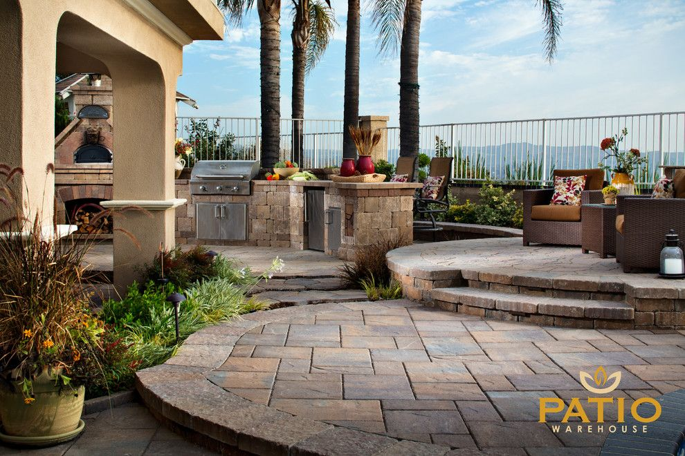 Angelus Pavers for a Rustic Patio with a Pavers Patio and Belgard Pavers by Patio Warehouse Inc.