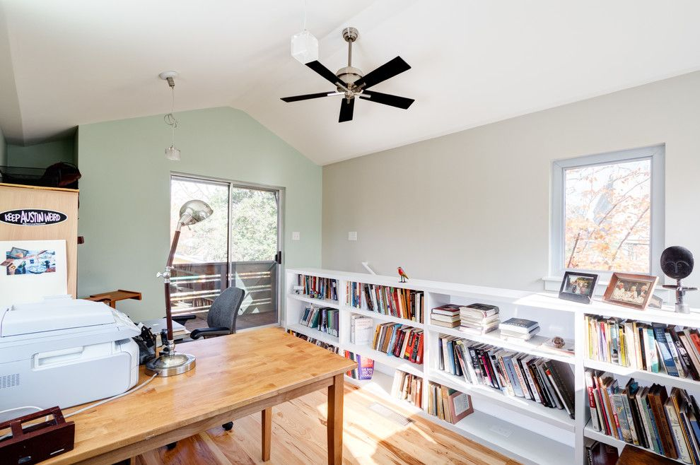 Anime Crave for a Eclectic Home Office with a Pear and Modern, Eclectic, Traditional Austin Addition... Thanks Houzz by Moontower Design Build