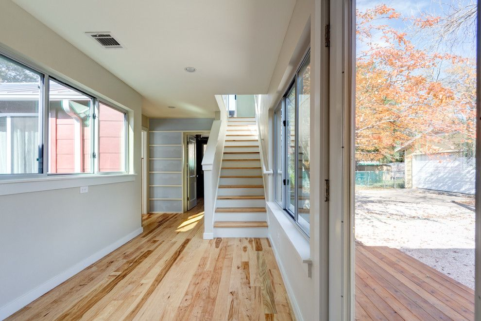 Anime Crave for a Modern Hall with a Tree and Modern, Eclectic, Traditional Austin Addition... Thanks Houzz by Moontower Design Build