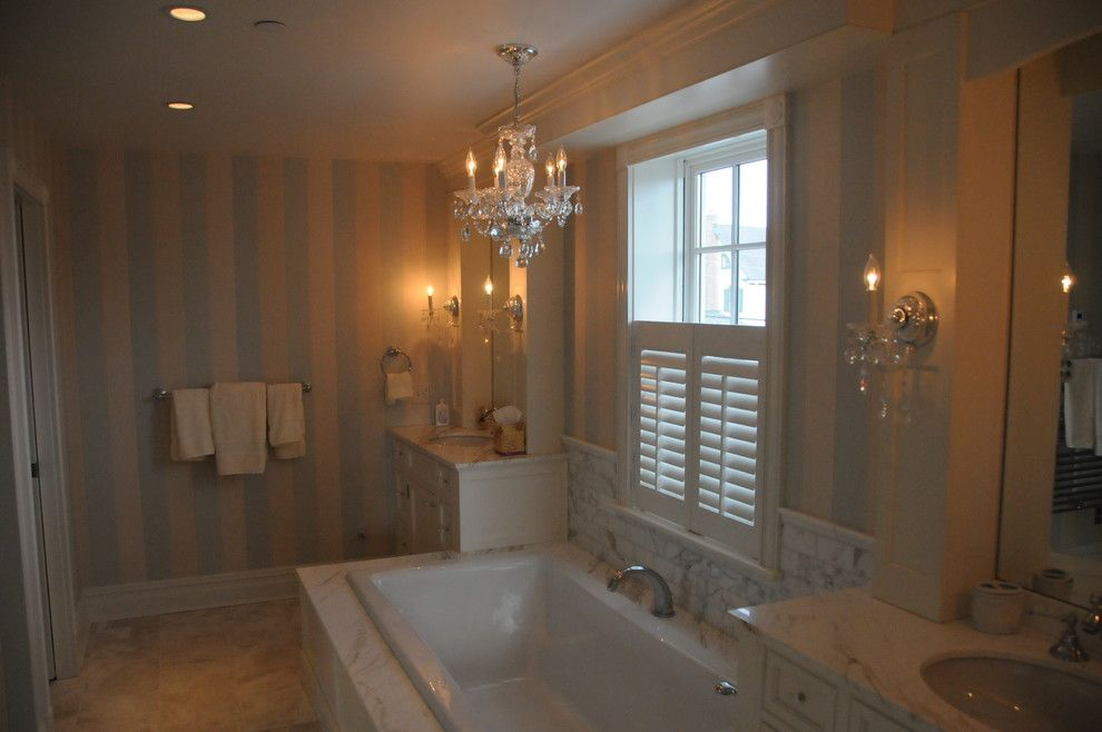Annapolis Lighting for a Traditional Bathroom with a Beach House and Cape May Beach House by Annapolis Lighting