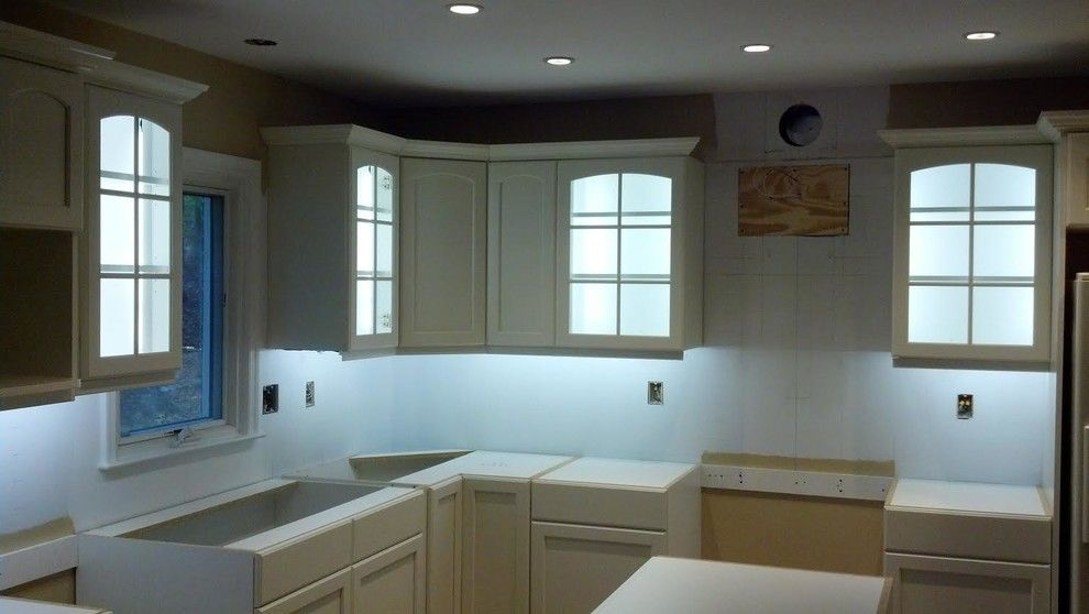 Annapolis Lighting for a Traditional Kitchen with a Can and Calabrese Kitchen by Annapolis Lighting