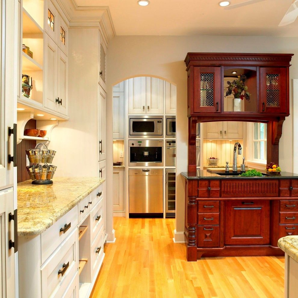 Appliance Parts Depot for a Traditional Kitchen with a Two Tone Cabinets and Aga Kitchen by the Sky is the Limit Design