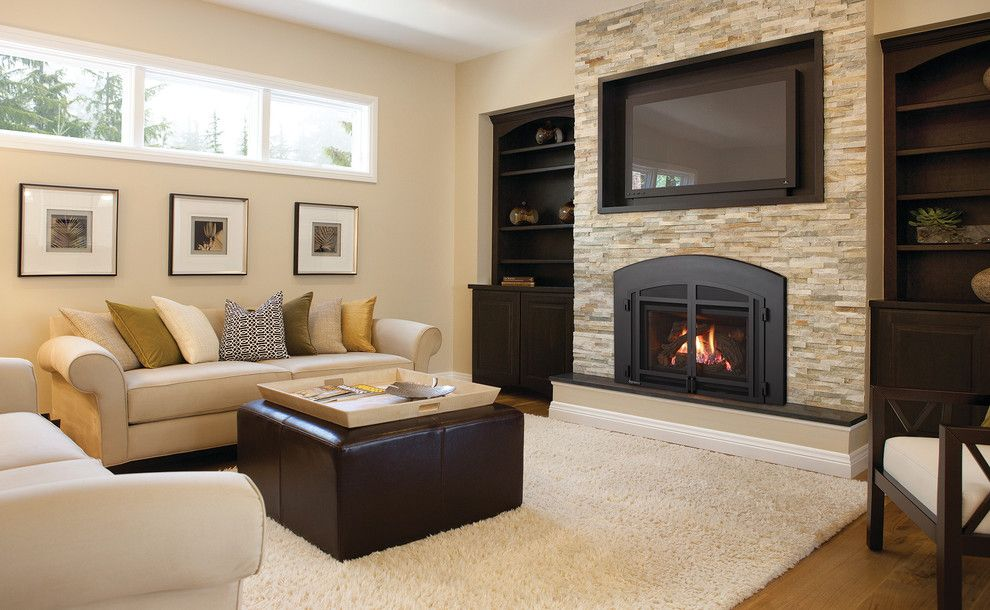 Aqua Quip for a  Living Room with a Fireplace Inserts and Fireplaces by Aqua Quip