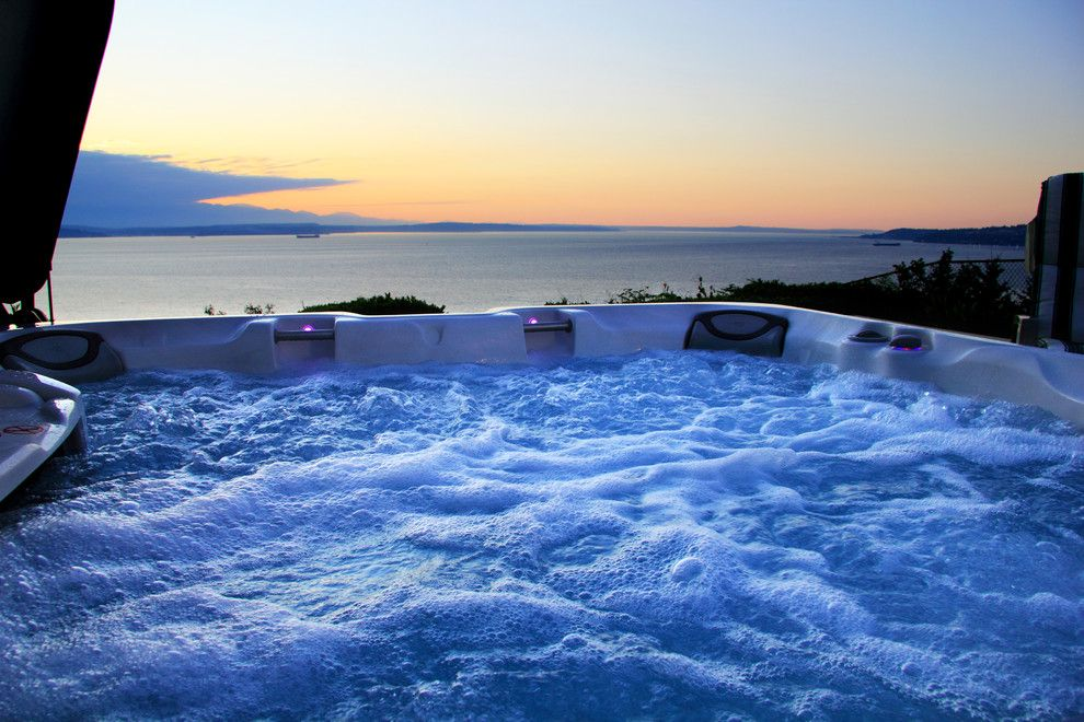 Aqua Quip for a  Spaces with a Hot Tub and Hot Tub, Puget Sound by Aqua Quip