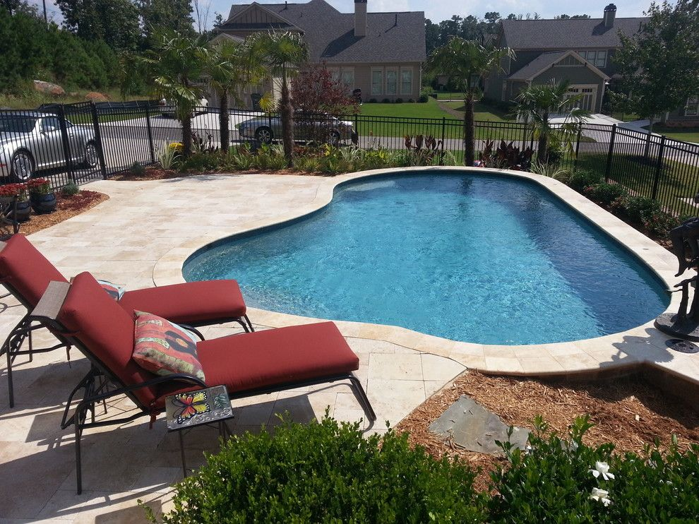 Aquarama for a Traditional Pool with a Relaxing and Mcmullin Pool Build by Aquarama Pools & Spas