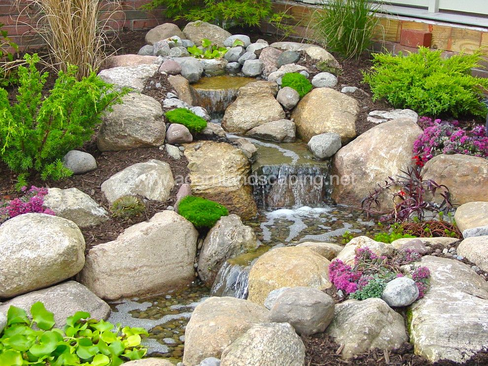 Aquascape for a Traditional Landscape with a Water Features Ny and Pondless Waterfalls, Water Features Rochester Ny by Acorn Ponds & Waterfalls