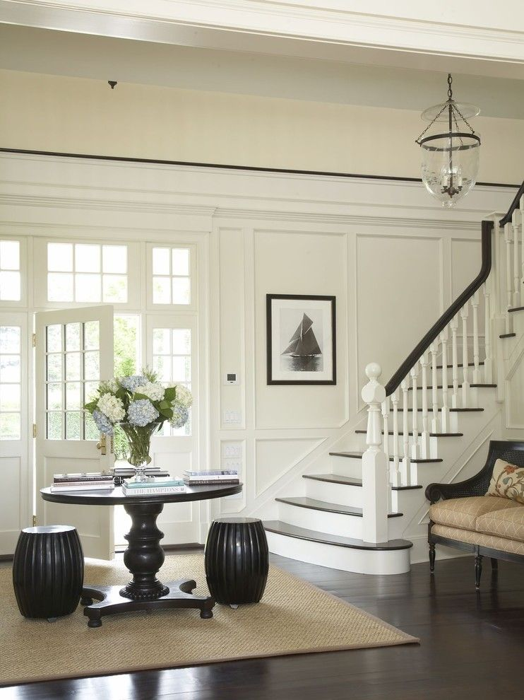 Arcadia Doors for a Traditional Entry with a Hurricane Lantern and Country Houses by Austin Patterson Disston Architects