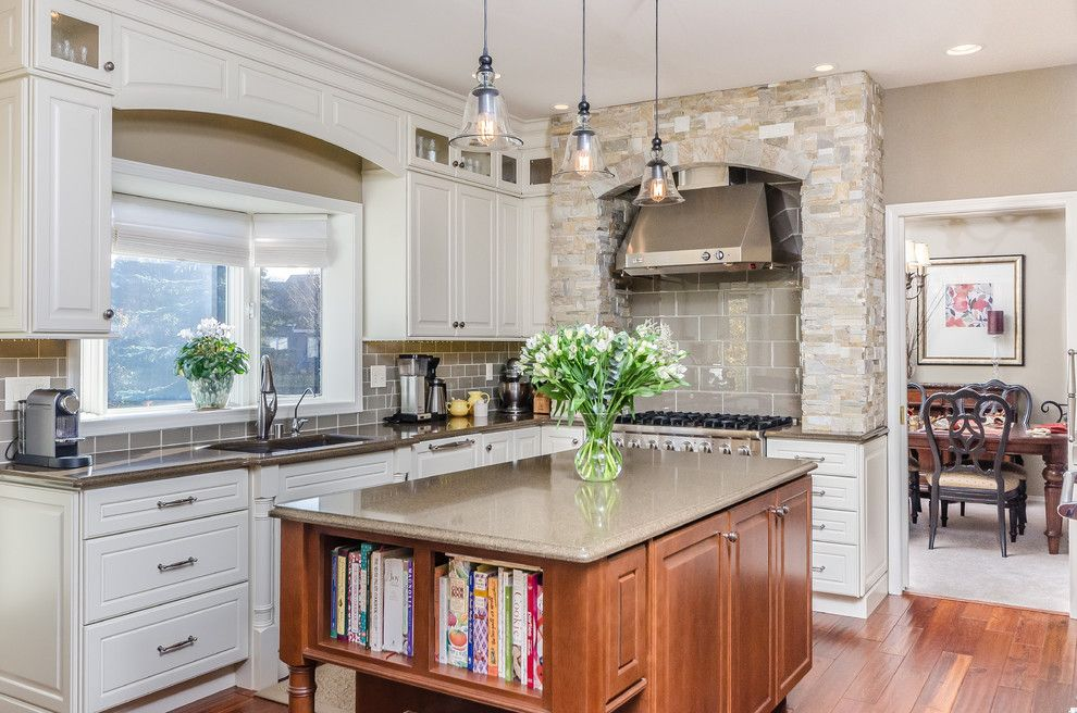 Arcadia Doors for a Traditional Kitchen with a Large Kitchen and Living Larger   Alaska's Best Kitchens Grand Prize Winner by Dura Supreme Cabinetry