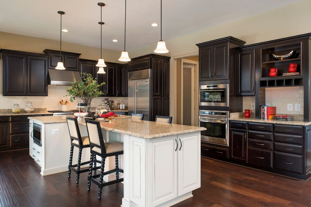 Arcadia Doors for a Traditional Kitchen with a Red Accents and Arcadia at Willowsford by Arcadia Communities