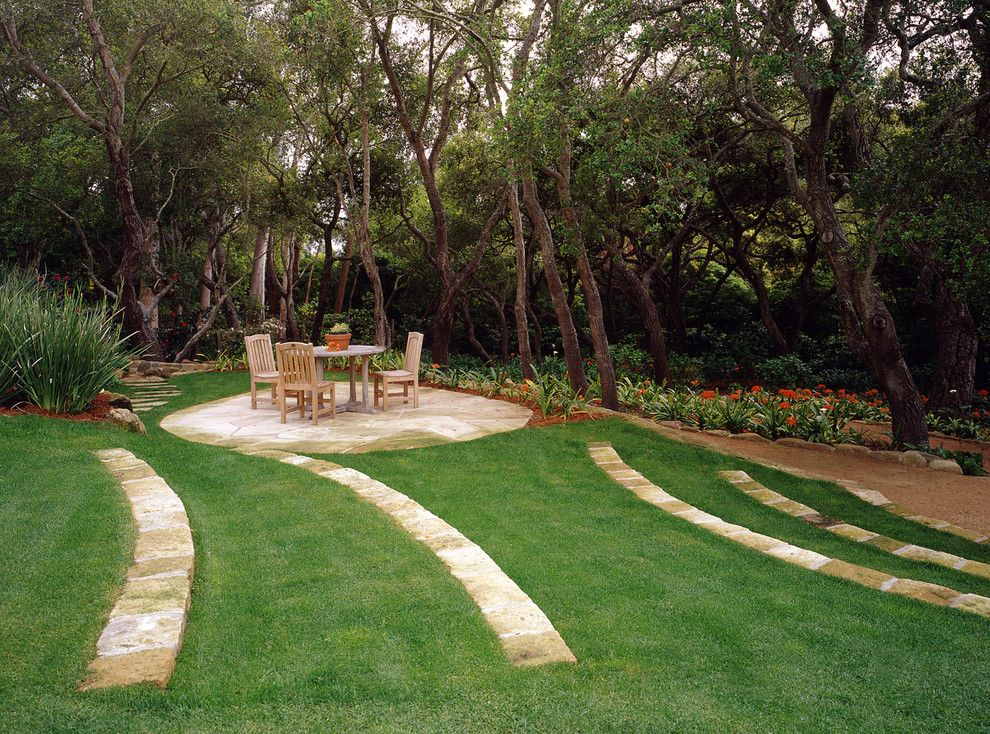 Arcadia Furniture for a Traditional Landscape with a Stone Garden Edge and Park Lane Residence by Arcadia Studio