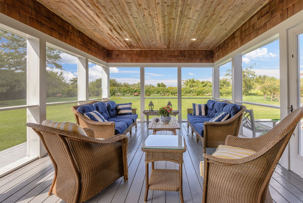 Arcadia Furniture for a Traditional Porch with a Outdoor Furniture and Highland Terrace, Bridgehampton Ny by Bridgehampton Broker
