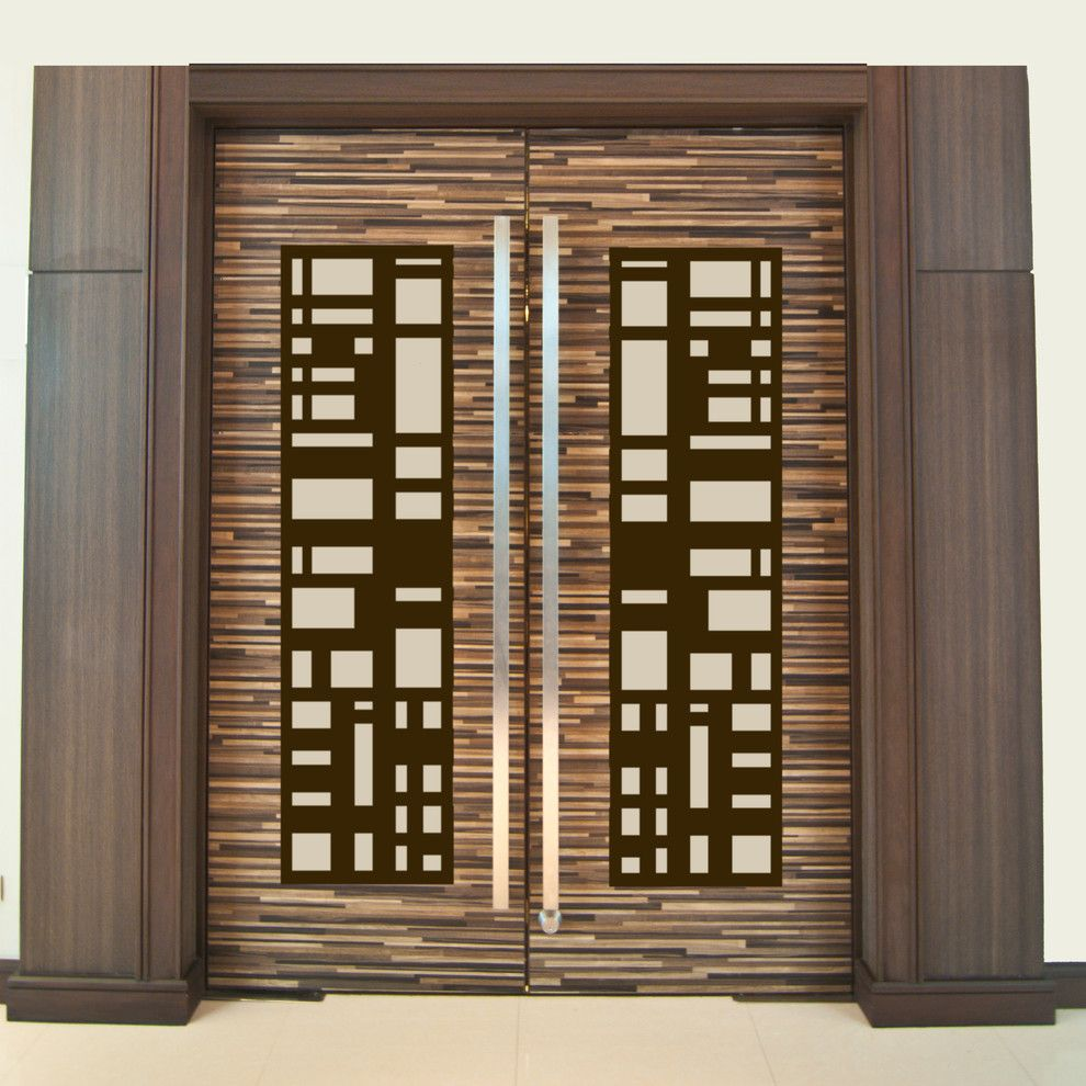 Architectural Grille For A Modern Home Theater With A Wall Grille And DOOR  INSERT PANELS By ARCHITECTURAL GRILLE