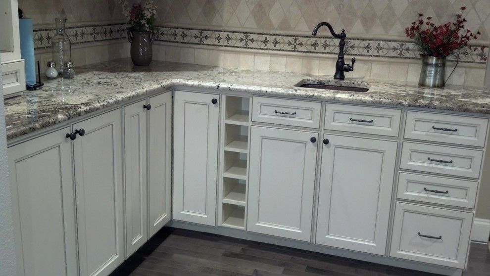 Aristokraft Cabinets For A Traditional Kitchen With A Stonemeyer Granite  And Efficiency By Prosource Wholesale