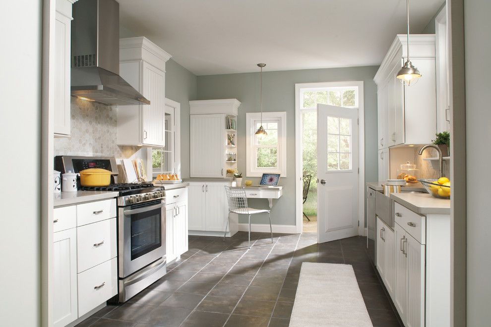 Aristokraft Cabinets for a Transitional Kitchen with a Stock Cabinets and Aristokraft Cabinets by Kbl Design Center
