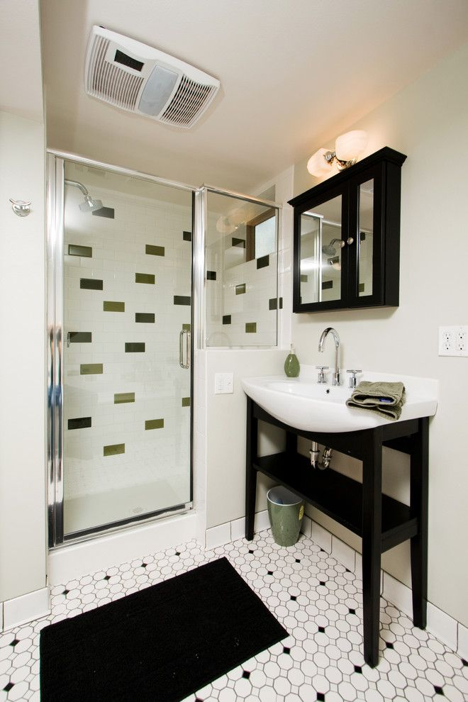 Arizona Tile Tempe for a Contemporary Bathroom with a Floor Tile Design and Mountain by Highcraft Builders