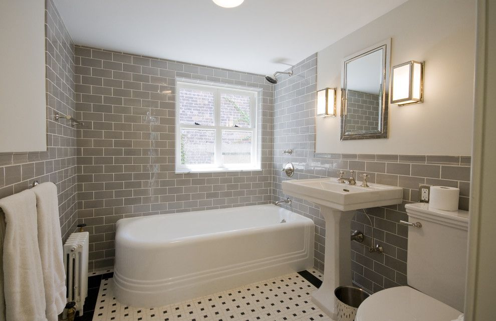 Arizona Tile Tempe for a Traditional Bathroom with a Wall Lighting and Italianate Townhouse by Linda Yowell Architects