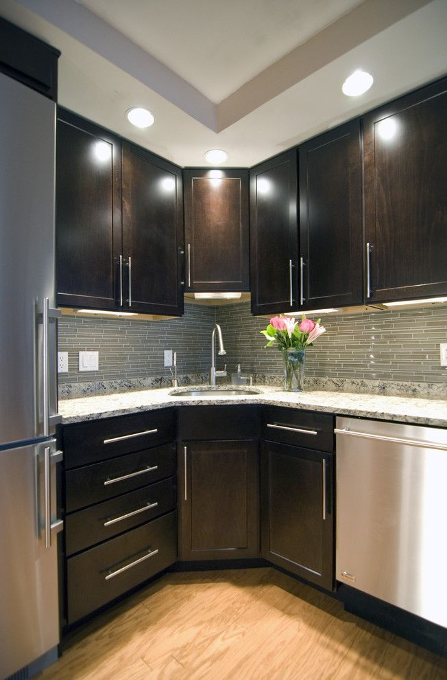 Armstrong Cabinets for a Contemporary Kitchen with a Granite Countertops and Case Design/remodeling, Inc. by Case Design/remodeling, Inc.