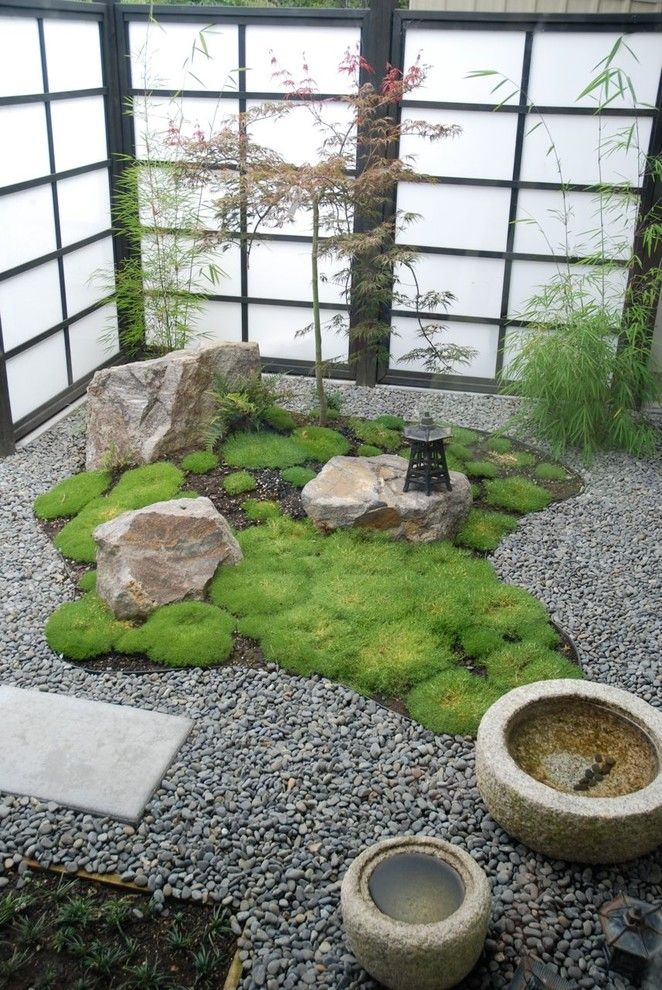 Armstrong Garden Center for a Asian Landscape with a Lantern and a Little Piece of Asia by Garden Mentors