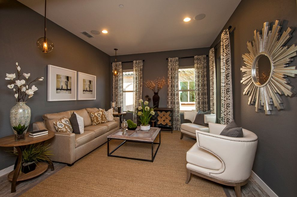Arteriors Home for a Contemporary Living Room with a Sisal Rug and the Rocky Mountain at Velvendo   Phoenix, Az by Meritage Homes