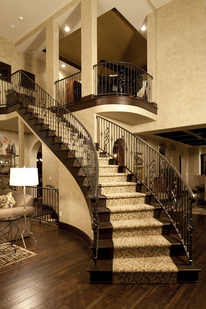Arteriors Home for a Traditional Staircase with a Faux Finish and Dream Home Great Rm by Christopher Scott Homes