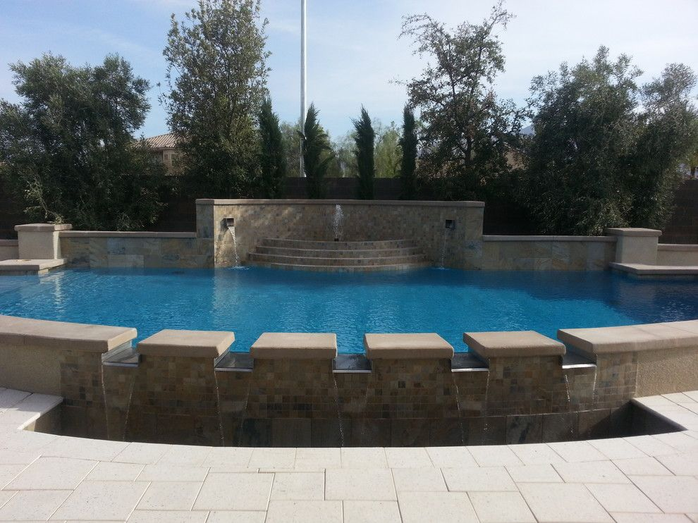 Artistic Pavers for a Contemporary Spaces with a Cool Deck and Light Pavers for a Cool Backyard by Artistic Paver Mfg.