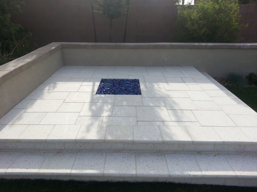 Artistic Pavers for a Contemporary Spaces with a Cool Pavers and Light Pavers for a Cool Backyard by Artistic Paver Mfg.