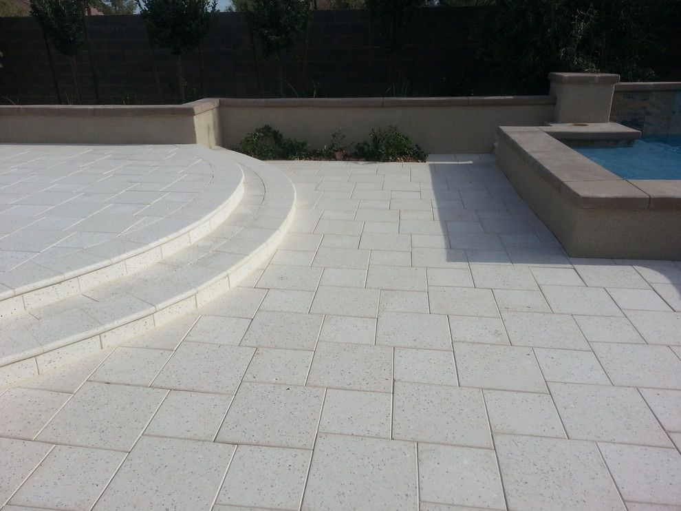 Artistic Pavers for a Contemporary Spaces with a Paver and Light Pavers for a Cool Backyard by Artistic Paver Mfg.