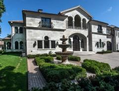 Arto Brick for a Mediterranean Patio with a Natural Stone Fountain and Ontario Canada Granite Fountain by Italian Marble, LLC