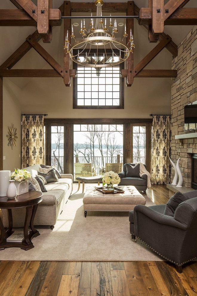 Ashley Furniture Chattanooga for a Transitional Living Room with a Vaulted Ceiling and Island Road by Martha O'hara Interiors