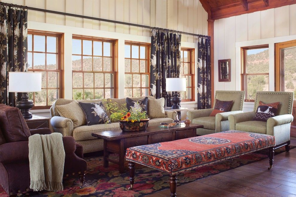 Ashley Furniture Reno For A Rustic Living Room With A Window Trim And McCoy  Colorado By Ashley Campbell Interior Design