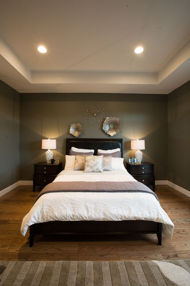 Ashley Furniture Reno for a Transitional Bedroom with a Bed Pillows and 2011 Manitoba Fall Parade of Homes by Dowalt Custom Homes Inc