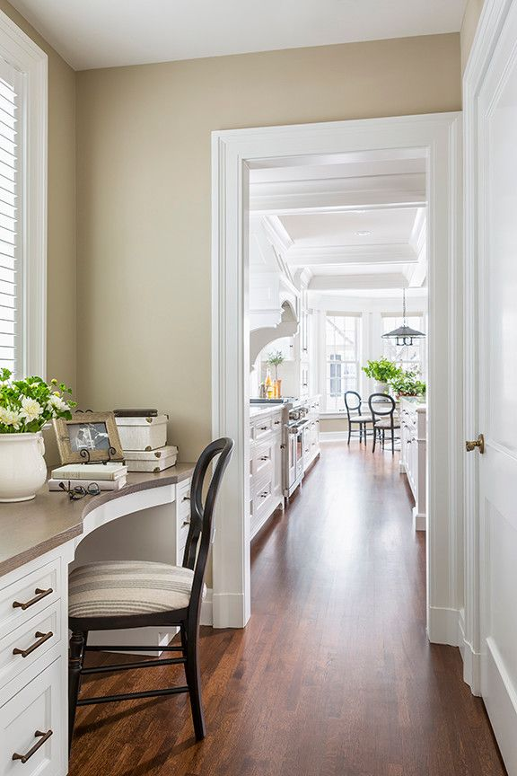 Ashley Norton Hardware for a Traditional Home Office with a Home Office and Lake Harriet Colonial   Desk by Rosemary Merrill Design