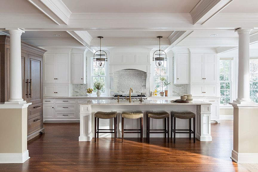 Ashley Norton Hardware for a Traditional Kitchen with a Sub Zero and Lake Harriet Colonial   Kitchen by Rosemary Merrill Design