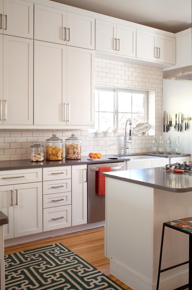 Ashley Norton Hardware For A Transitional Kitchen With A Black And