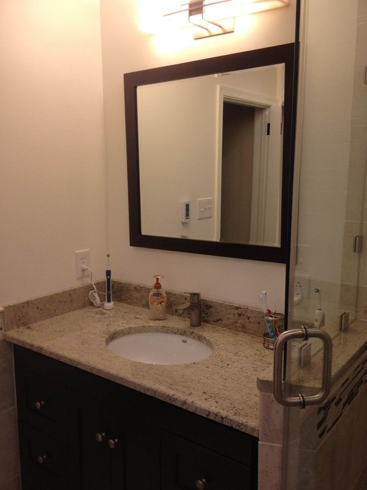 Astoria Granite for a Contemporary Bathroom with a Cherry Hill Nj and Astoria Granite Vanity Countertop by Stoneshop