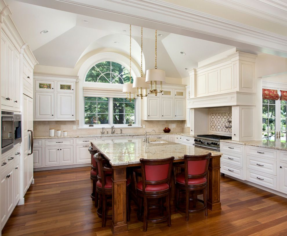 Atherton Appliance for a Traditional Kitchen with a Archway and Kitchens by Rki Interior Design