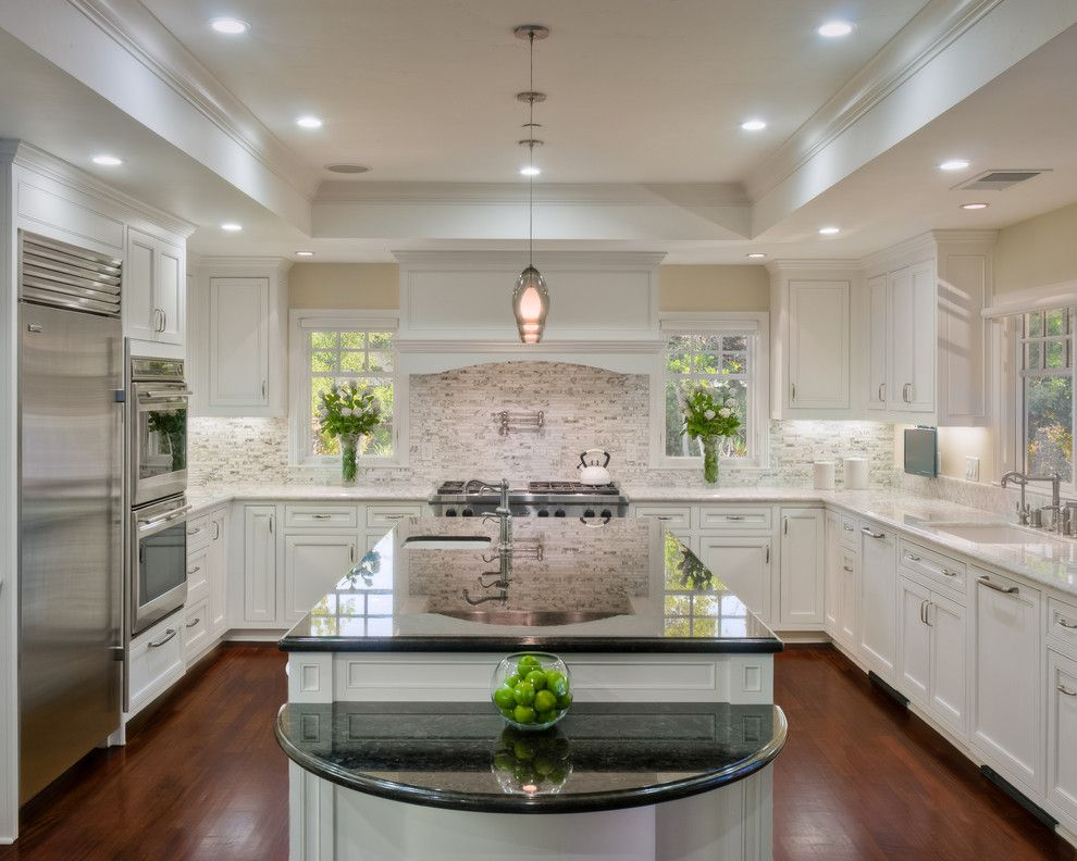 Atherton Appliance for a Traditional Kitchen with a Flowers and Atherton Family Kitchen by Rki Interior Design