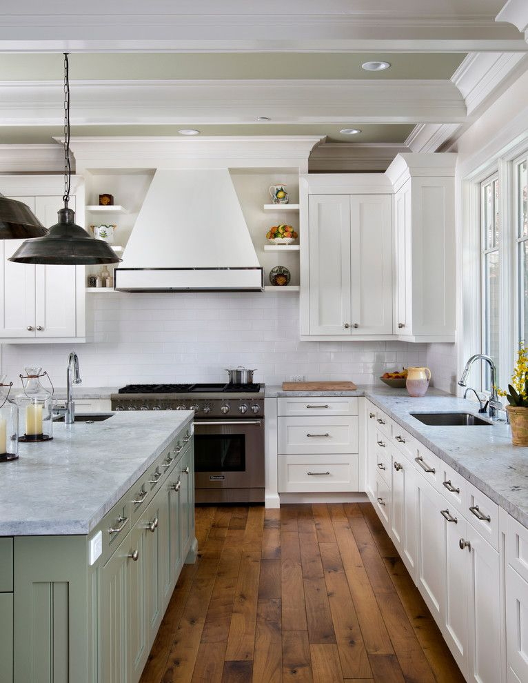 Atherton Appliance for a Traditional Kitchen with a Range Hood and Atherton Estate Luxury Home by Markay Johnson Construction by Markay Johnson Construction
