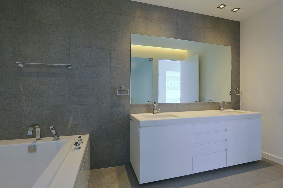 Atlas Concorde for a Contemporary Bathroom with a Contemporary and 54th Street West by Sawa Design Studio