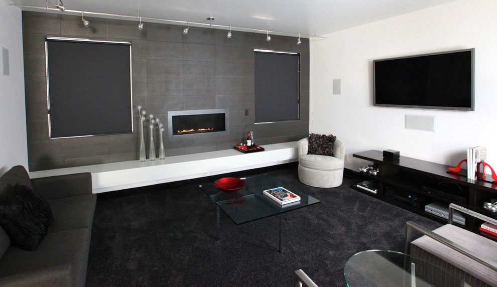 Atlas Concorde for a Contemporary Family Room with a in Wall Speakers and Platt Park Custom Home by Shadow Creek Homes