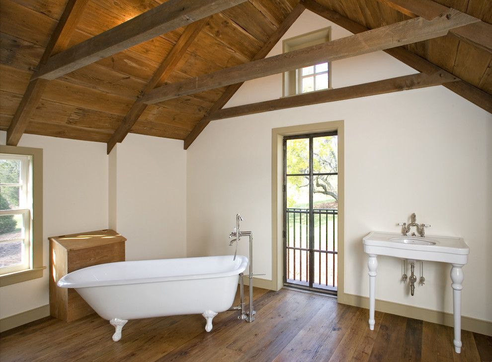 Attic Truss for a Traditional Bathroom with a Baseboards and Bathroom by Fredendall Building Company