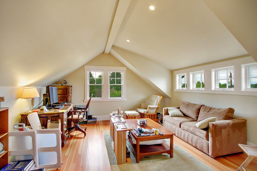 Attic Truss For A Traditional Spaces With A Traditional And Greenlake  Craftsman By RW Anderson Homes