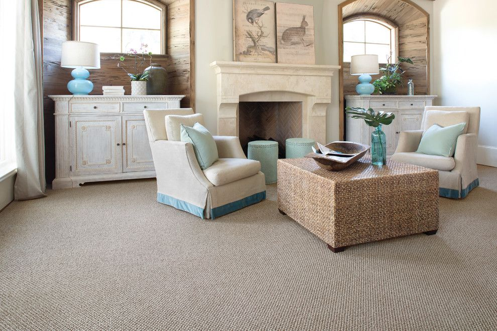 Avalon Flooring for a Beach Style Living Room with a Neutral Carpet and Living Room Carpet by Avalon Flooring