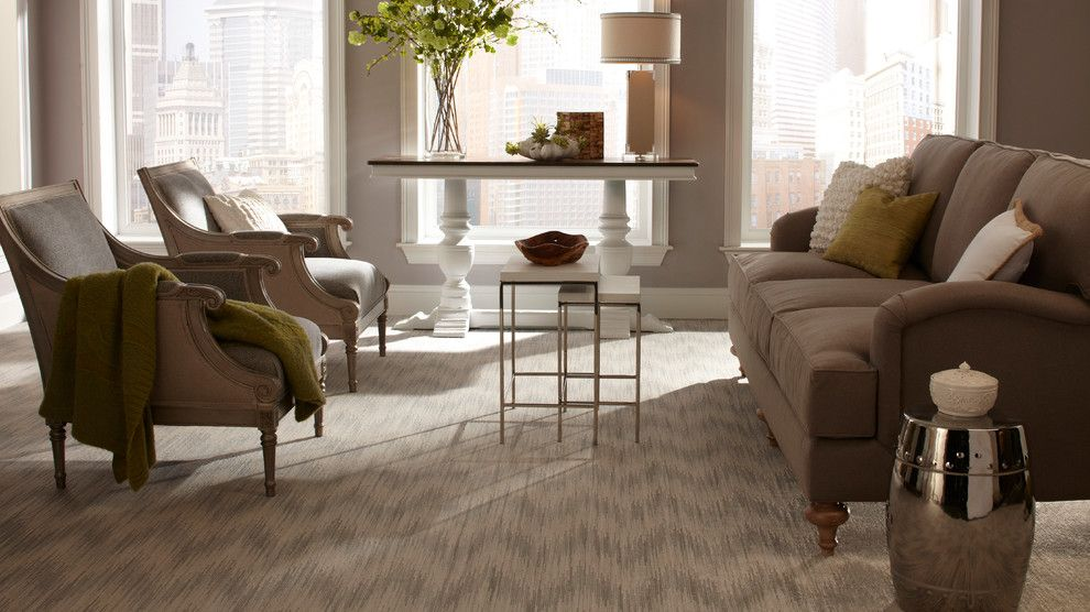 Avalon Flooring for a  Family Room with a Tan Carpet and Family Room Carpet by Avalon Flooring